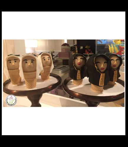 Ramadan Themed Cone Cake Pops 1