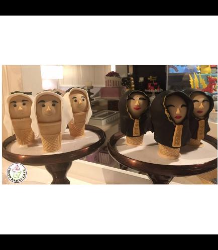 Men & Women  Themed Cone Cake Pops