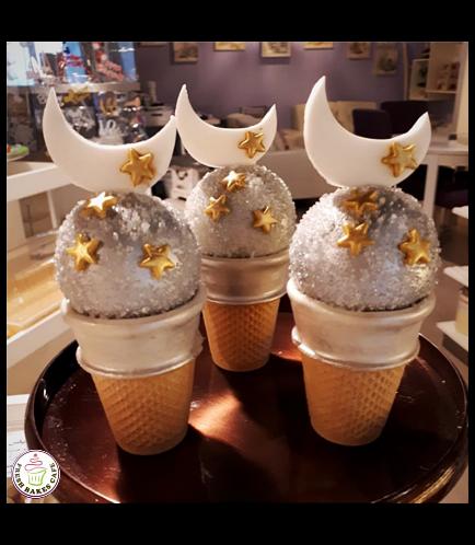 Ramadan themed Cone Cake Pops 3