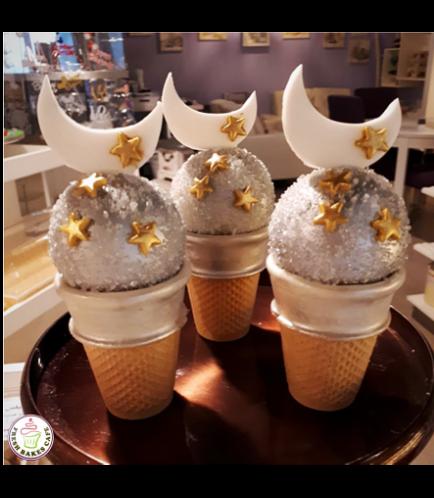 Ramadan Themed Cone Cake Pops - Crescent & Stars