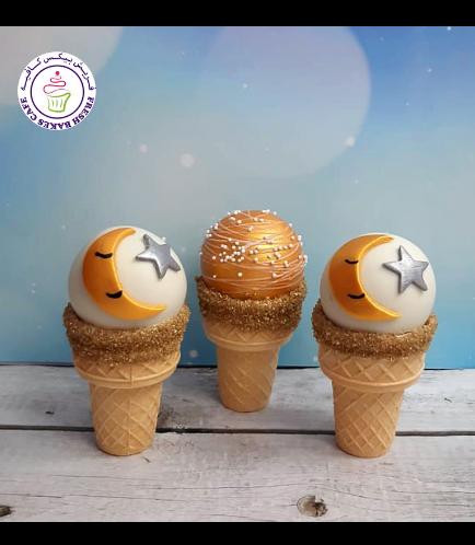 Cone Cake Pops - Moon & Star