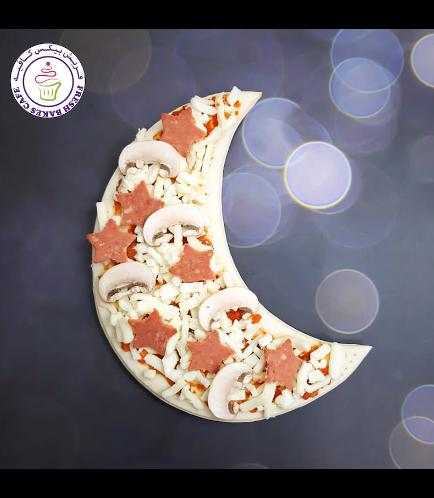 Ramadan Themed Pizza - Crescent