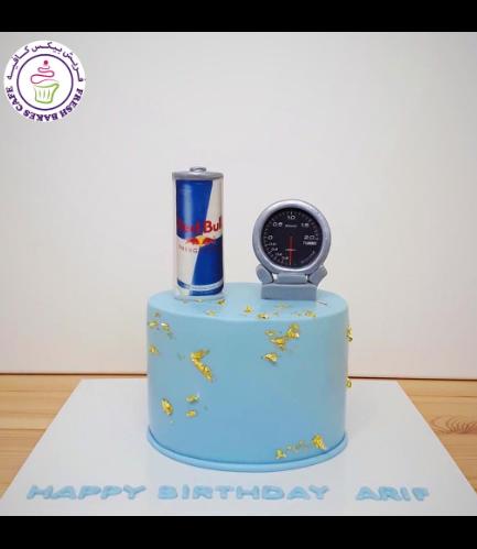 Red Bull & Speed Meter Themed Cake