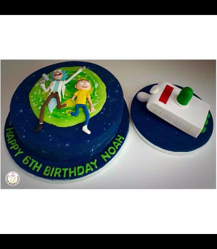 Rick & Morty Themed Cake and Portal Gun Cake