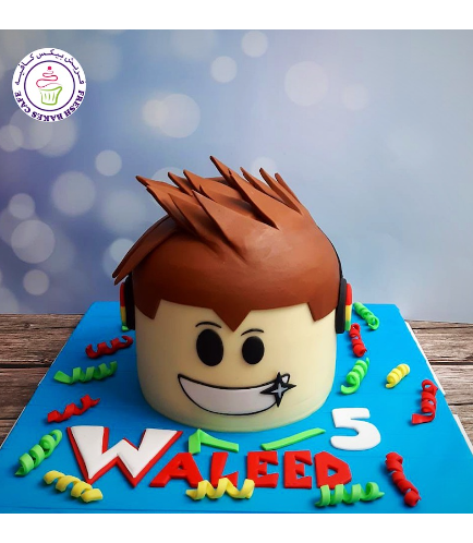 Roblox Themed Cake - 2D Cake