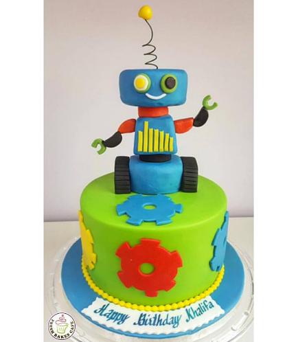 Robot Themed Cake 01