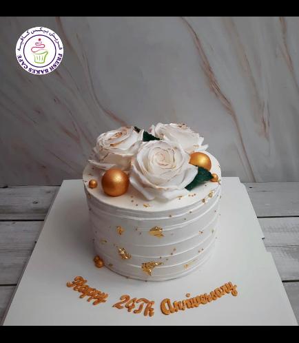 Cake - Roses - Cream Cake 04