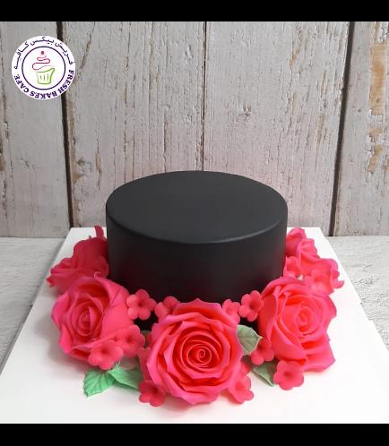 Cake - Roses - Black Cake