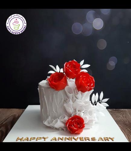 Cake - Roses - Cream Cake 05