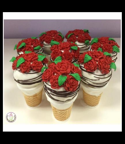 Cone Cake Pops - Roses 01