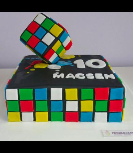 Rubik's Cube Themed Cake - 3D Cake Topper