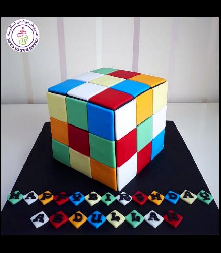 Rubik's Cube Themed Cake - 3D Cake