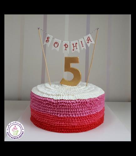 Cream Ruffle Cake 01c