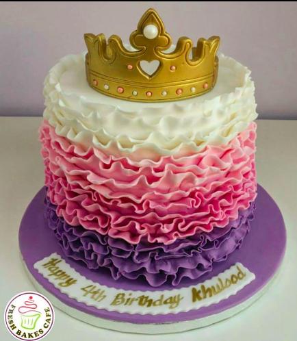 Fondant Ruffle Cake 3a