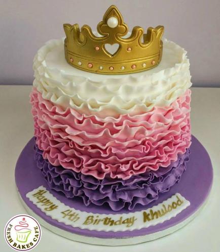 Fondant Cake - Crown 01a