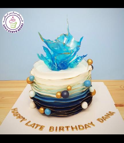 Fondant Cake - Isomalt & Balls