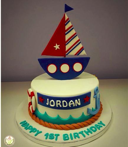 Sailboat Themed Cake 2a
