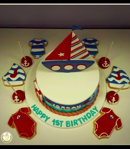 Sailboat Themed Cake 2b