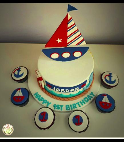 Sailboat Themed Cake 2d