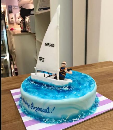 Sailboat Themed Cake 01