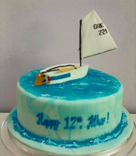 Sailboat Themed Cake 02
