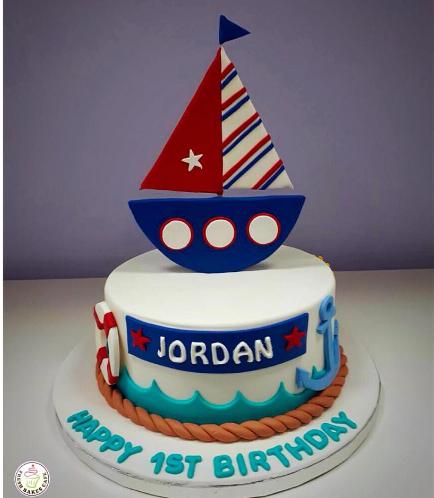 Sailboat Themed Cake 04b