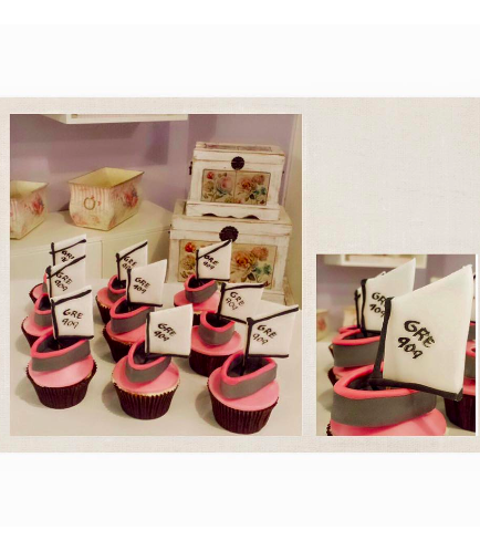 Sailboat Themed Cupcakes