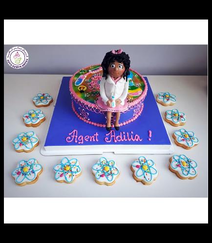 Scientist Themed Cake 5b