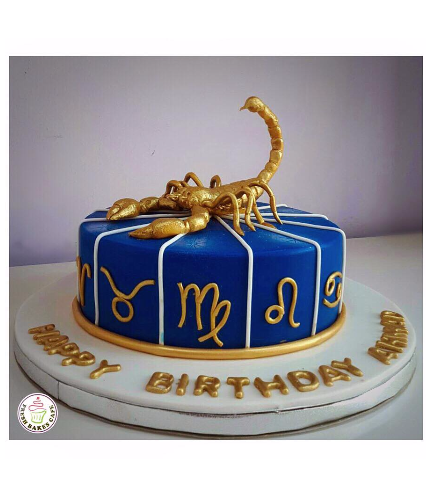 Scorpio Themed Cake 02b