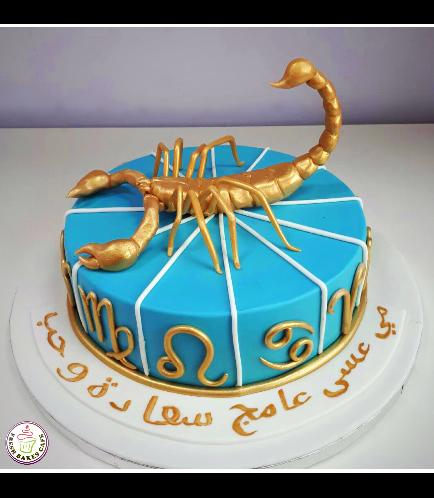 Scorpio Sign Themed Cake 1
