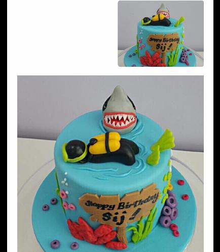 Scuba Diving Themed Cake