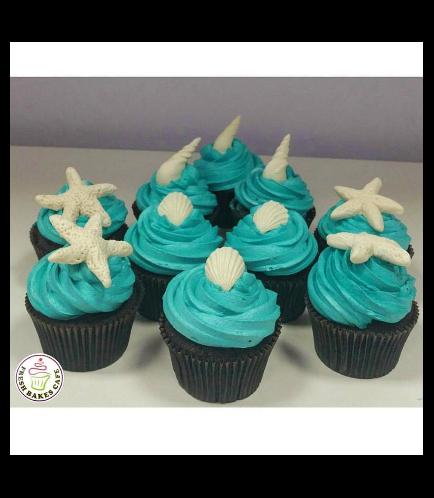 Sea Shell Themed Cupcakes 01