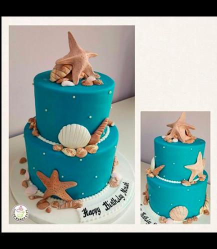 Sea Shell Themed Cake 04