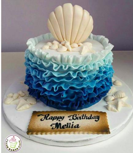 Sea Shell Themed Cake 03a