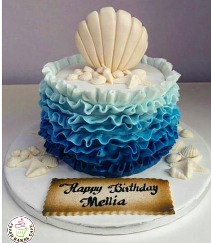 Fondant Cake - Sea Shells