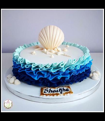 Sea Shell Themed Cake 03b