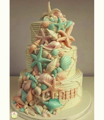 Sea Shell Themed Cake 05