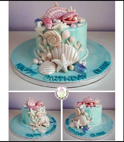 Sea Shell Themed Cake 06