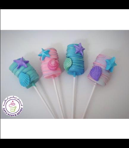 Seashells Themed Marshmallow Pops 02