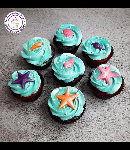 Seashells Themed Cupcakes 04