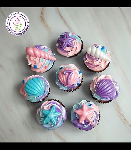 Seashells Themed Cupcakes 05