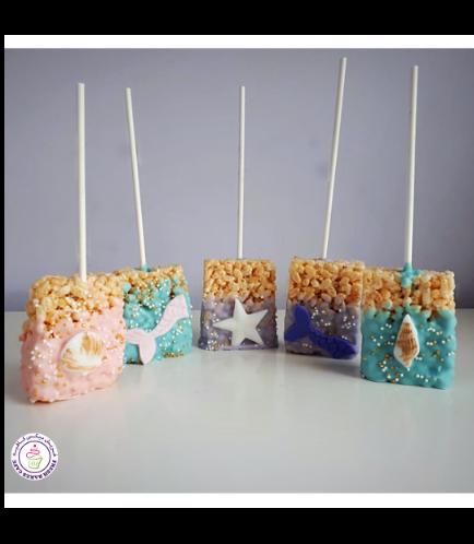 Krispie Treats - Mermaid Tails & Seashells