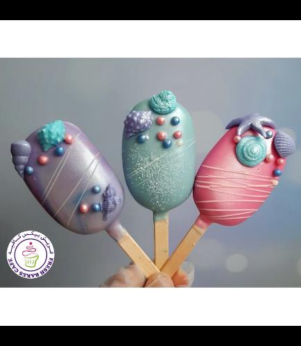 Seashells Themed Popsicakes
