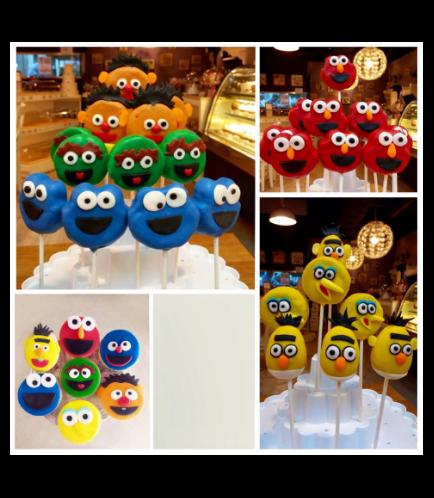 Sesame Street Themed Cake Pops & Cupcakes