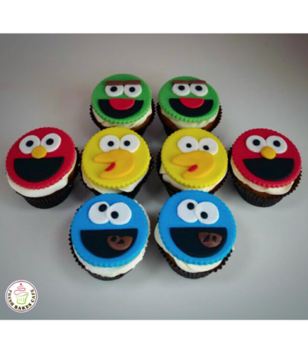 Sesame Street Themed Cupcakes 2