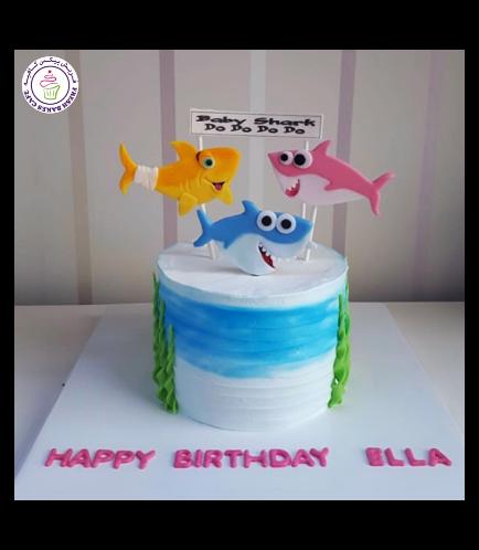 Shark Themed Cake - Baby Shark 02