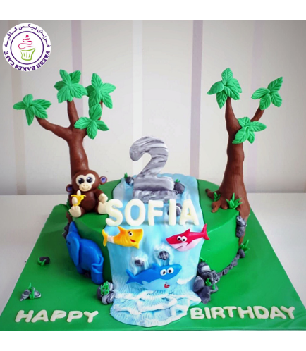 Baby Shark Themed Cake - Monkey