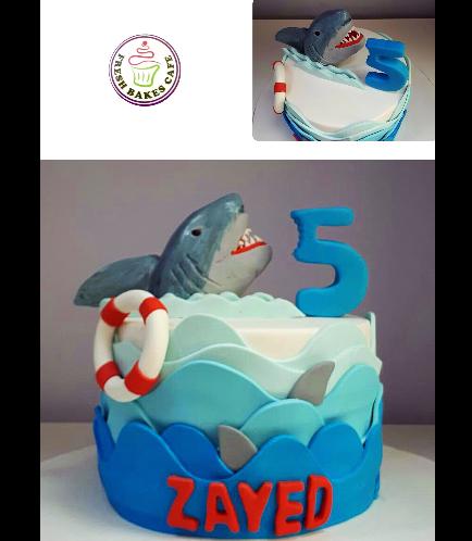 Shark Themed Cake 01
