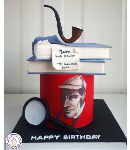 Sherlock Holmes Themed Cake 01
