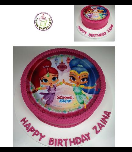 Shimmer & Shine Themed Cake 02